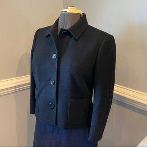 Ralph Lauren Short Black Wool Blend Pea Coat